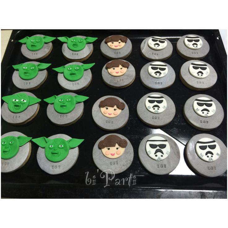 Star wars cookies. Star wars party ideas. Birthday cookie. Doğum günü kurabiye.