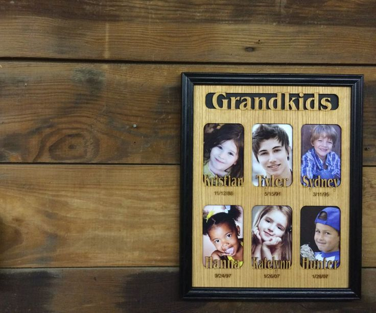 11x14 Custom Grandkids Picture Frame, Personalized Frame with Names Dates, Grandparents Gift, Laser Engraved Frame, Collage Picture Frame by legacyimages on Etsy