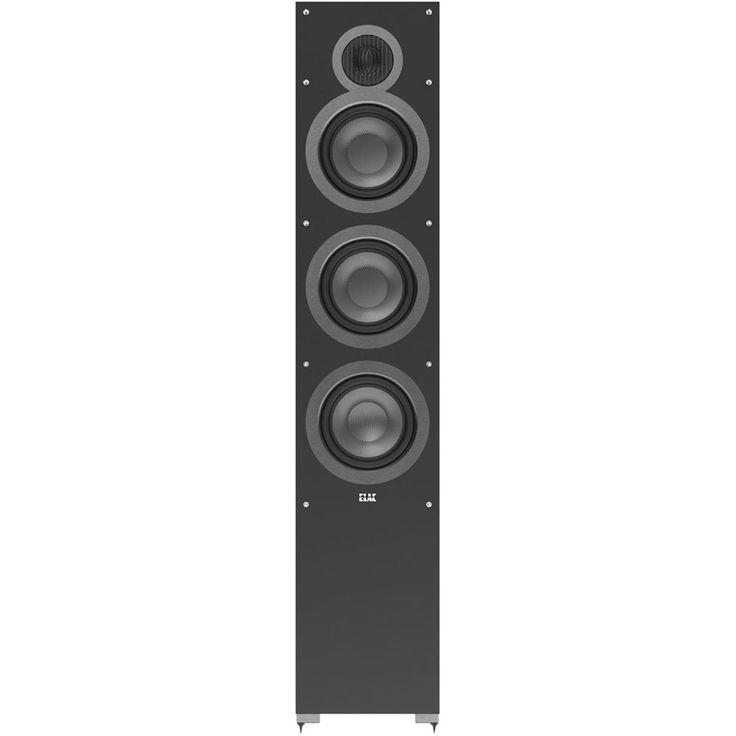 """Elac - Debut Dual 6-1/2"""" 150-Watt Passive 3-Way Floor Speaker (Each) - Black, DF61-BK"""