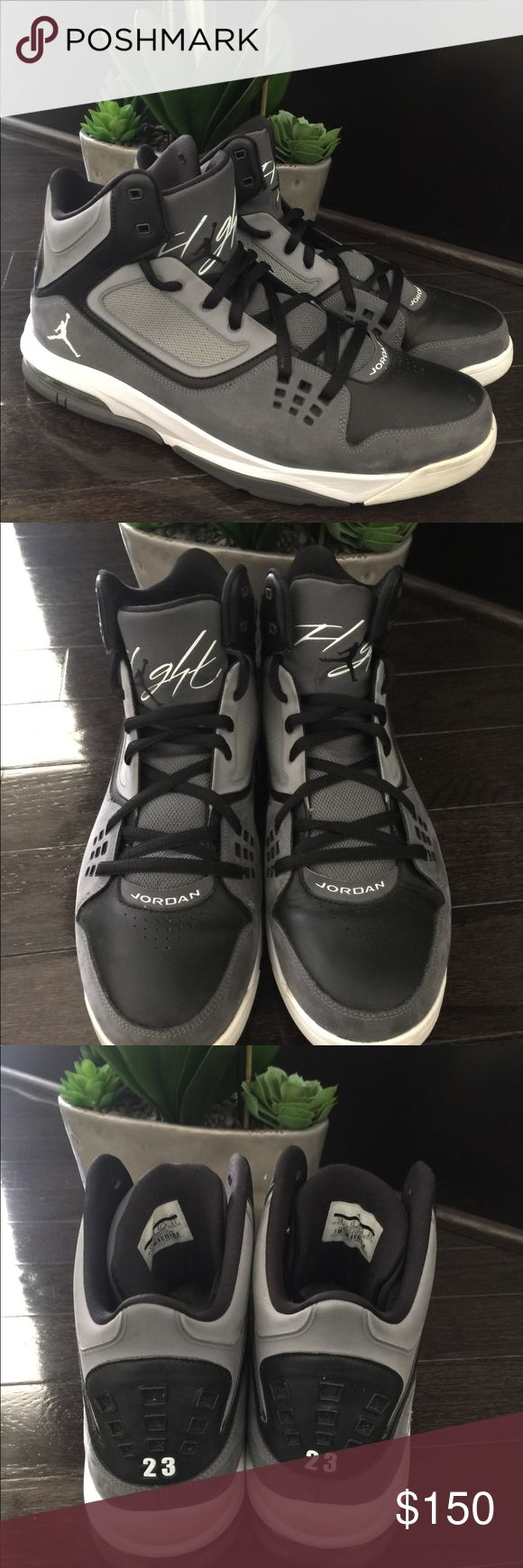 Nike Air Jordan Flight 23 Style 512234-005 (2012) Used, great condition. Black, gray and white. US 13 UK 12.5 EUR 47.5 Nike Shoes Athletic Shoes