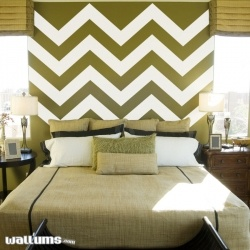 Chevron Stripes 2 Vinyl Wall Decal Sticker