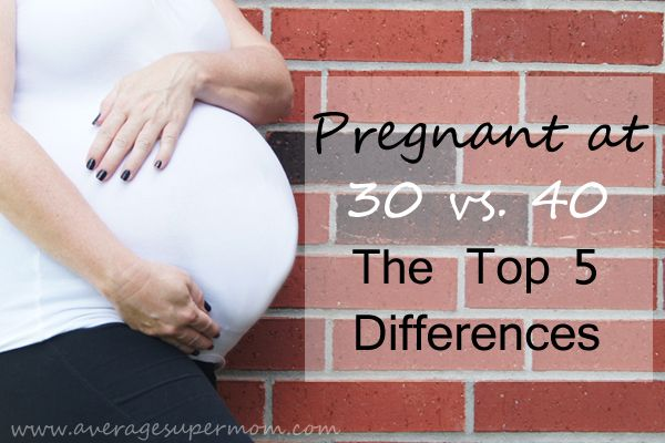 I was pregnant exactly 10 years ago when I was 30. Being pregnant at 40 is an entirely new experience. These are my top 5 differences between the two.