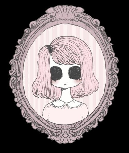 creepy, pastel, and pink image