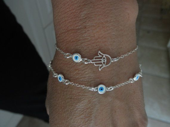 Multi boze oog sterling zilveren ketting armband meerdere