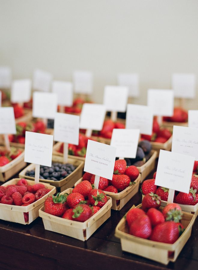 Berry escort cards: http://www.stylemepretty.com/california-weddings/sausalito/2015/10/06/elegant-late-summer-wedding-at-cavallo-point/ | Photography: Josh Gruetzmacher - http://www.joshgruetzmacher.com/