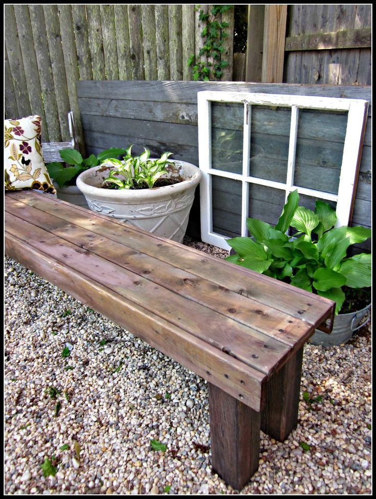 Diy garden bench woodworking projects plans for Banc en bois de palette