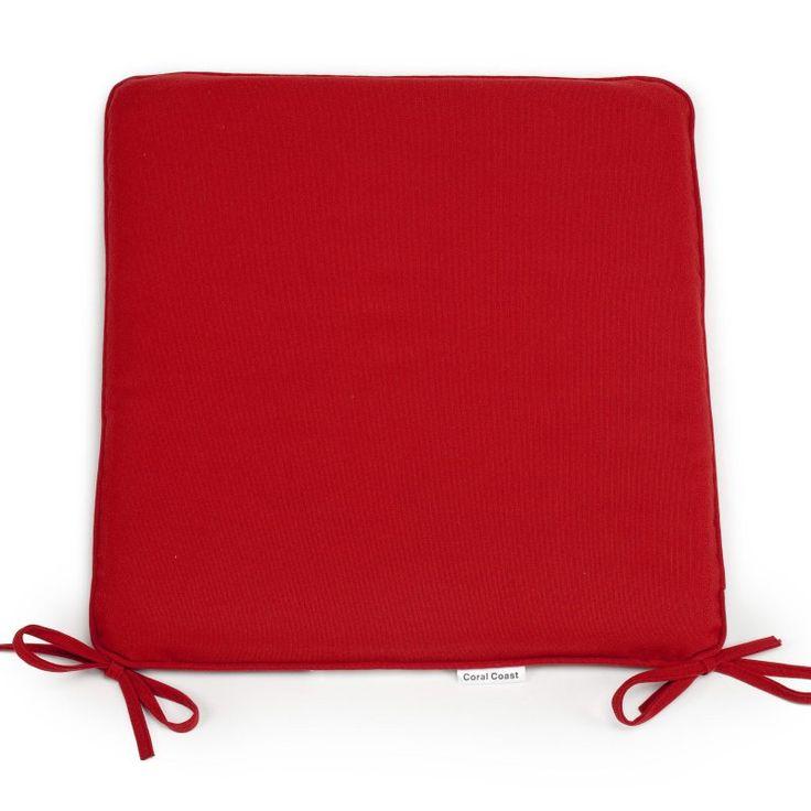 Coral Coast Classic 21 x 19 in. Outdoor Furniture Seat Pad Brick Red - M029-1B-AFS047-BRICK RED