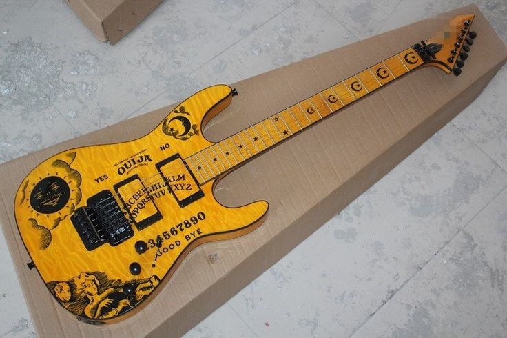 Esp Kh 2 Ouija Limited Edition Hammett Signature Yellow Electric
