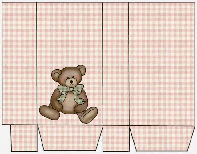 Teddy Bear: Free Printable Box.