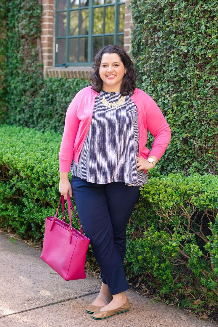 Spring Business Casual - Something Gold, Something Blue fashion blog - Colorful cardigans, navy pants, colorful totes and @Tieks ballet flats make for the perfect work outfit, what to wear to work, business attire, consulting , business casual