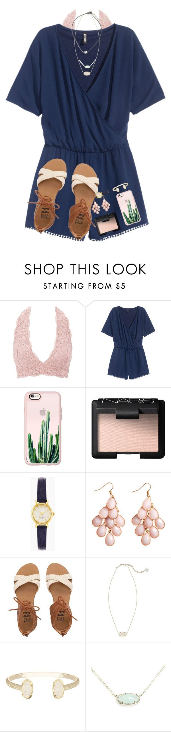 """""""some people are worth melting for"""" by evedriggers ❤ liked on Polyvore featuring Charlotte Russe, H&M, Casetify, NARS Cosmetics, Kate Spade, Billabong and Kendra Scott"""