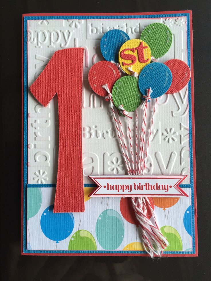 1st birthday card I made for a special little boy named Owen