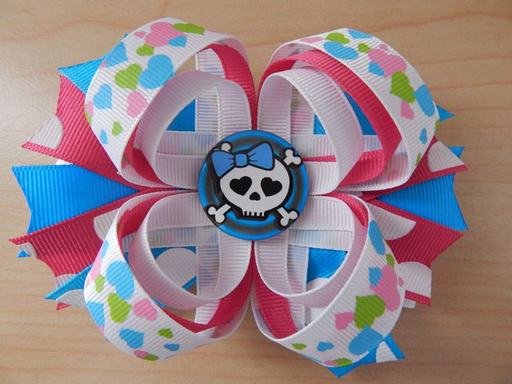Large & Colorful Hair Bow for Girls