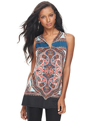 INC International Concepts Top, Sleeveless Printed Tunic - Womens - Macy's: Eye Catch, Julia Style, Prints Tunics, International Concept, Sleeveless Prints, Catch Tops, Concept Tops