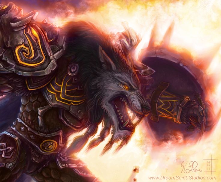 WoW Worgen Prot Warrior Color by *Dreamspirit on deviantART