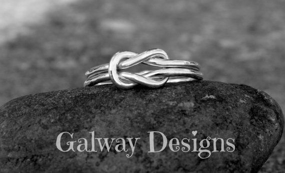 INFINITY KNOT ring  Square Knot  Sterling Silver by galwaydesigns, $36.00