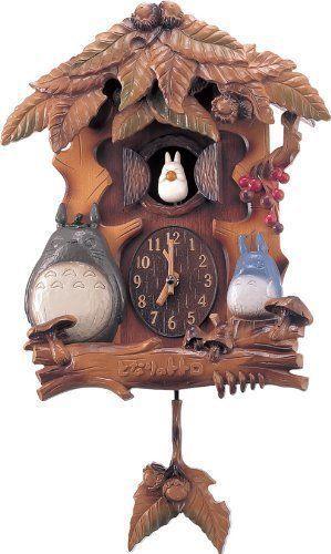 My Neighbor Totoro Music Box Function with Automaton Clock Totoro New F S   eBay