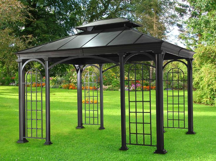 275 best images about metal gazebo kits on pinterest for Outdoor pavilion plans
