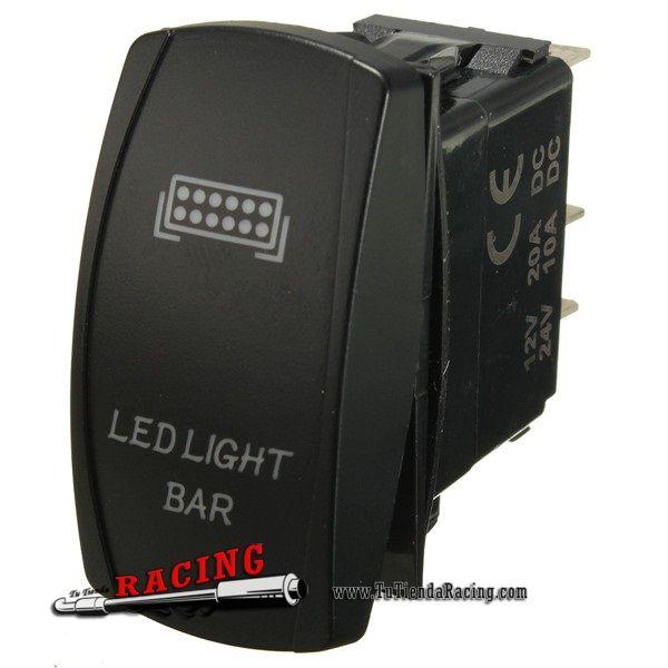 Interruptor Universal con Retroiluminación y Relé 40A + Terminales Coche Camión Moto Color Negro - 32,53€ - TUTIENDARACING - ENVÍO GRATUITO EN TODAS TUS COMPRAS