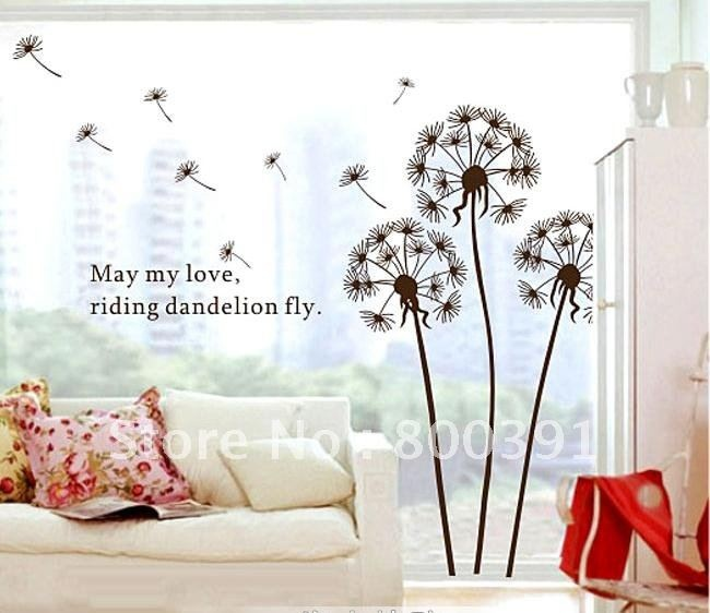 Cheap Stickers Printable, Buy Quality Decal Sticker Paper Directly From  China Sticker Tag Suppliers: New Dandelion Nursery Kids Room Removable  Quote Vinyl ... Part 63