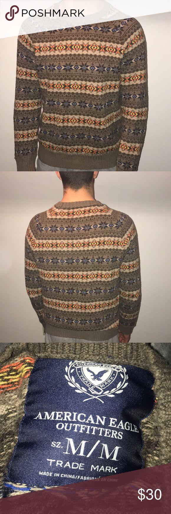 American eagle men's sweater * American eagle * size medium * made in China *60% cotton, 35% nylon, 5% rabbit hair American Eagle Outfitters Sweaters Crewneck