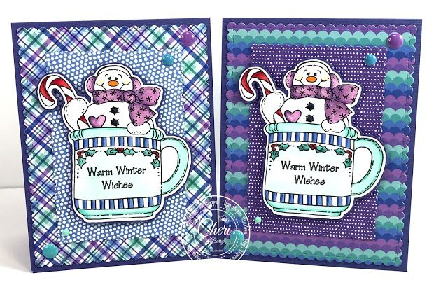 High Hopes Stamps: Snowy's Cup! By DT Cheri