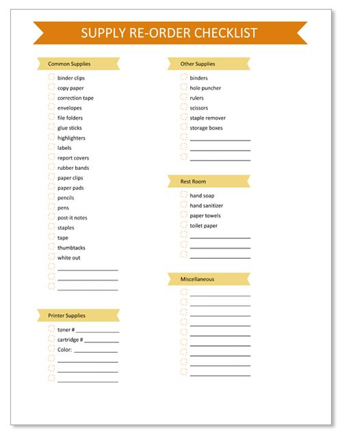 17 Best ideas about Checklist Template on Pinterest | Balance ...