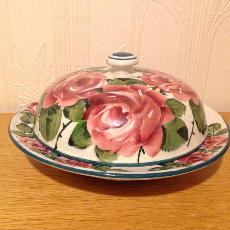 РЕДКИЙ ВИНТАЖНЫЙ УИМС КЕКС БЛЮДО И КРЫШКИ Cabbage Rose УЗОР | eBay