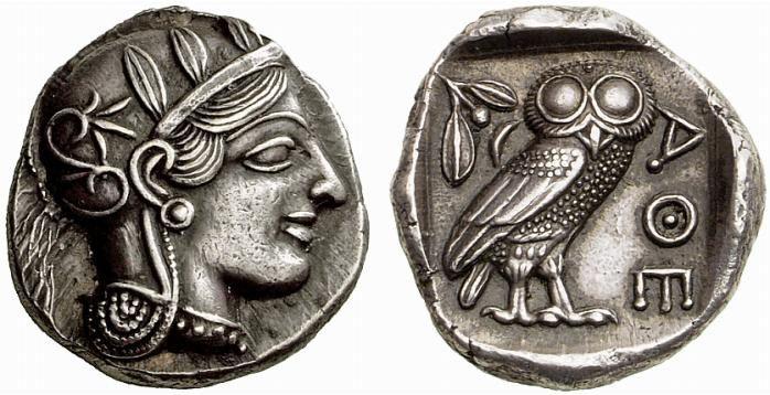 G645 An Exceptional Greek Silver Tetradrachm of Athens (Attica)