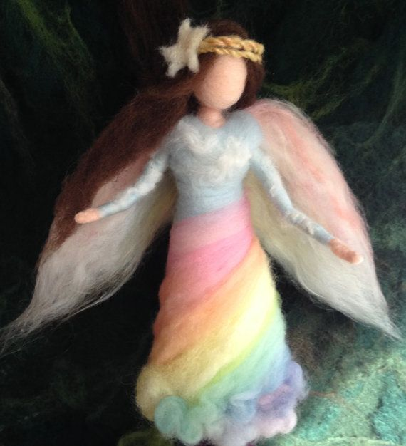 Angel Tree Topper Custom Needle Felt Roses by ClaudiaMarieFelt