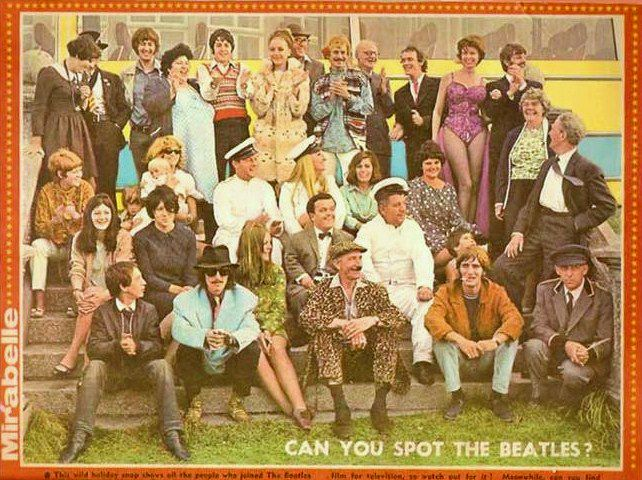 Sgt. Pepper's Lonely Hearts Club Band ( Can you spot the Beatles?)