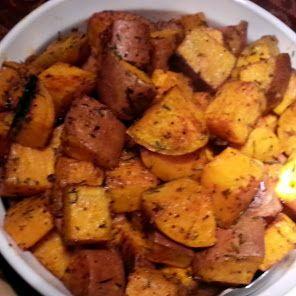 Rosemary Roasted Sweet Potatoes recipe snapshot
