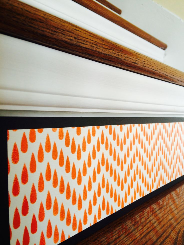 Orange Home Decor / Orange Chevron / Alternative to Vinyl Decals, Stair Stencils and Stair Stickers / Modern Home Decor / Contemporary by TributeDesigns on Etsy