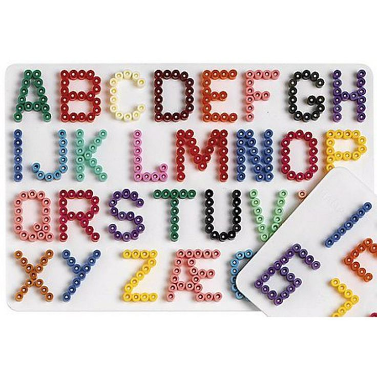 Alfabeto en hama beads.