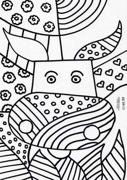Bonito Dibujos Para Colorear Pop Art Festooning - Páginas Para ...
