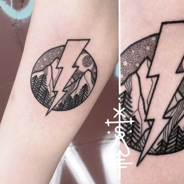 25 best ideas about lightning bolt tattoo on pinterest for Lightning tattoo meaning