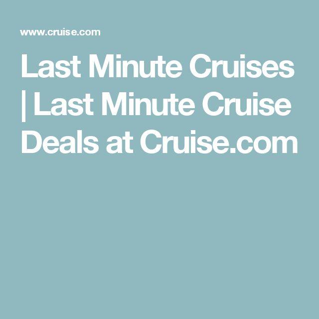 Last Minute Cruises | Last Minute Cruise Deals at Cruise.com