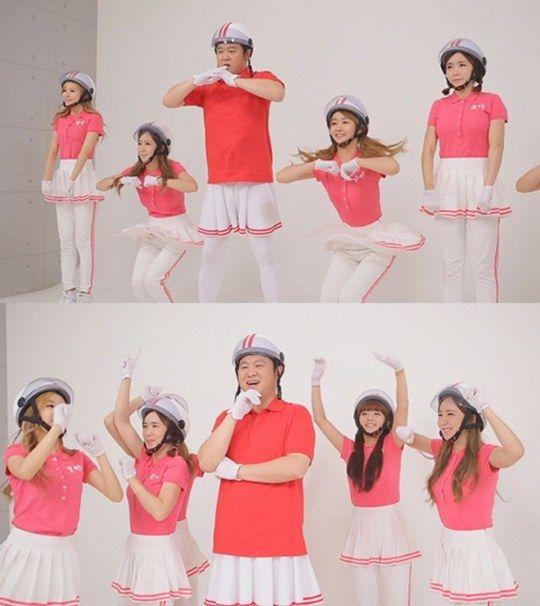 "Kim Gura and 'SNL Korea' cast dance to Crayon Pop's ""Bar Bar Bar"" ~ Latest K-pop News - K-pop News | Daily K Pop News"