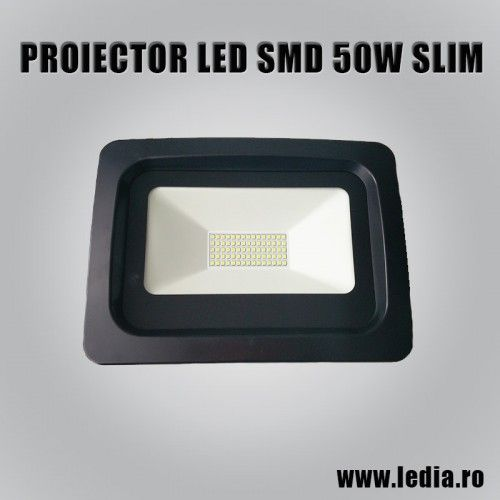 Proiector LED 50W slim smd 5500k ledia.ro sibiu