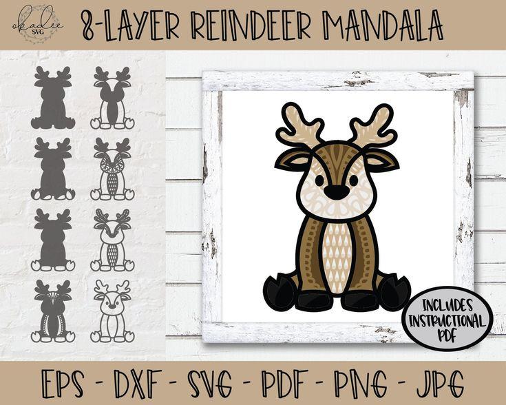 Download 3D Reindeer Mandala SVG 3D Mandala SVG Layered Mandala SVG ...