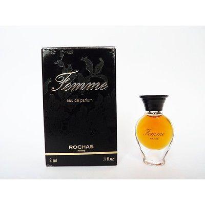 """Résultat de recherche d'images pour """"miniature de parfum rochas femme"""""""