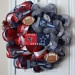 Houston Texans/Dallas Cowboys Deco Mesh Wreath.