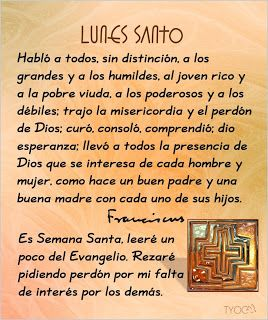 ESPECIAL DE SEMANA SANTA: Lunes santo-Sufrimientos de Jesucristo por sus discípulos