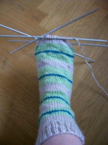 tuto chaussettes bi-colore 3