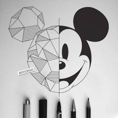 Geometrische Mickey Mouse