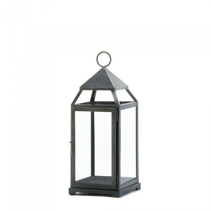 Gallery of Light 10016944 Large Rustic Silver Contemporary Lantern