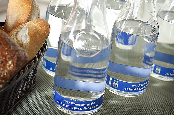 agua en hostelería