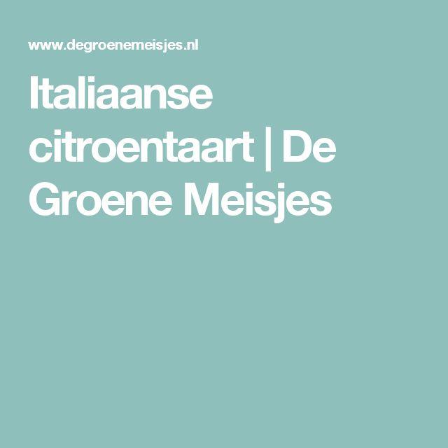 Italiaanse citroentaart | De Groene Meisjes