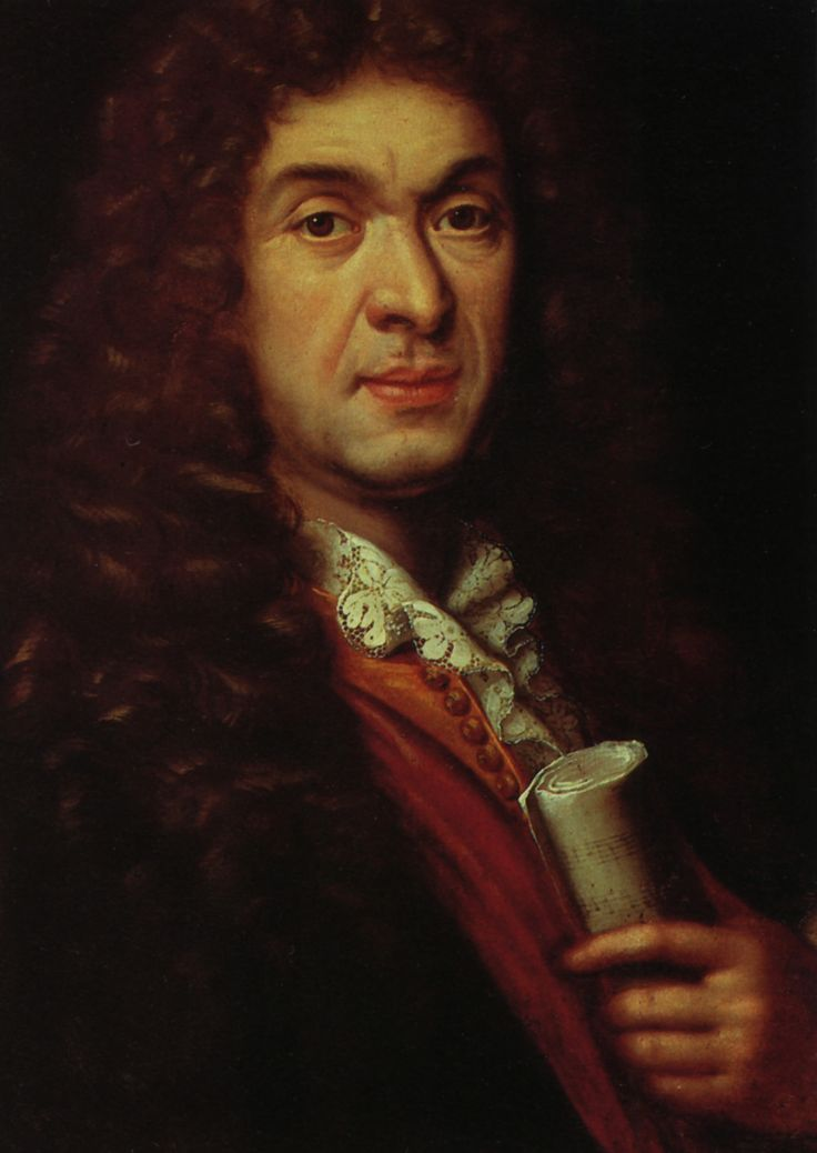(detail) Jean-Baptiste Lully (1632-1687) composer to the King - by Nicolas Mignard (1606-1668).