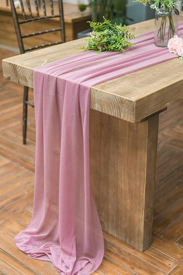 29 X 120 Inch Romantic Sheer Table Runner 7 Colors Farm Table Decor Rustic Table Runners Farm Table Wedding